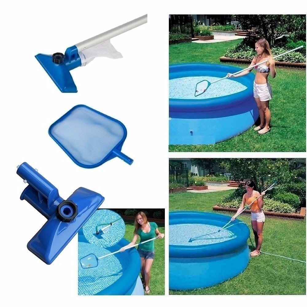 Kit de limpeza manuten o piscina peneira aspirador for Kit de piscina