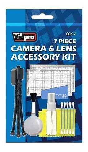 kit de limpeza para lentes de foto e vídeo com 07 peças original vidpro cck-7