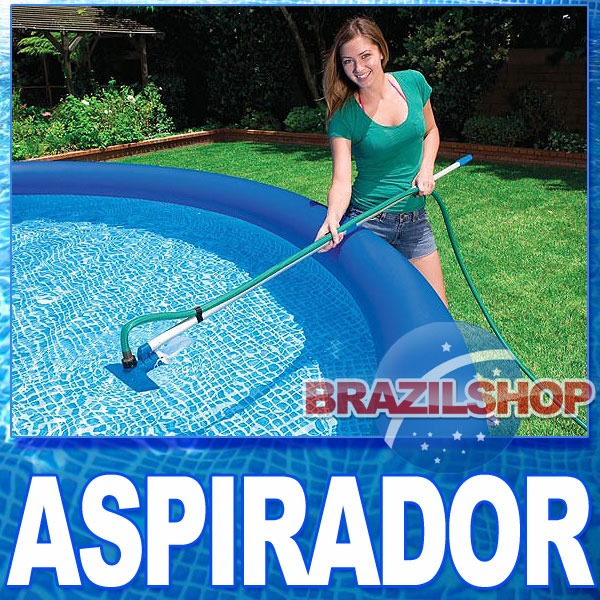 Kit de limpeza piscina aspirador e peneira intex mor for Aspirador para piscina