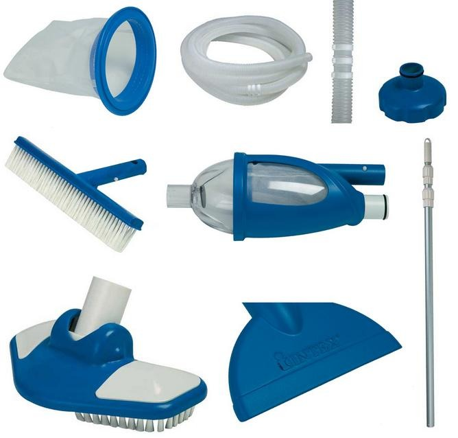 Kit de limpeza piscina intex cabo aspirador peneira deluxe for Kit de piscina
