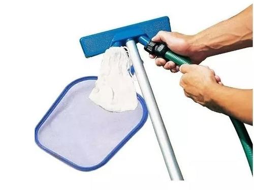 kit de limpieza bestway 2 en 1 saca hoja + barrefondo