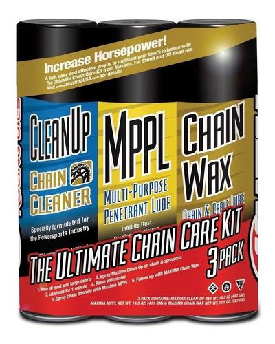 kit de limpieza cadena maxima oils mantenimiento completo