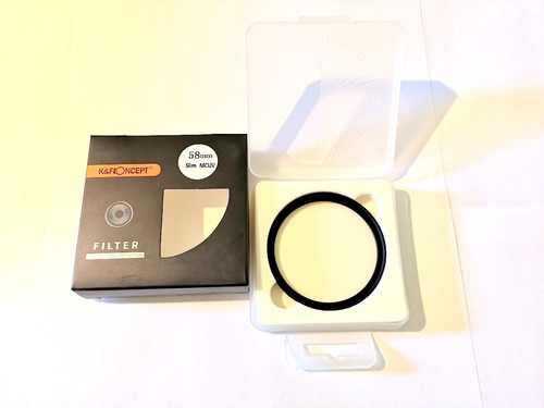 kit de limpieza cámaras  + filtro uv diámetro 58mm