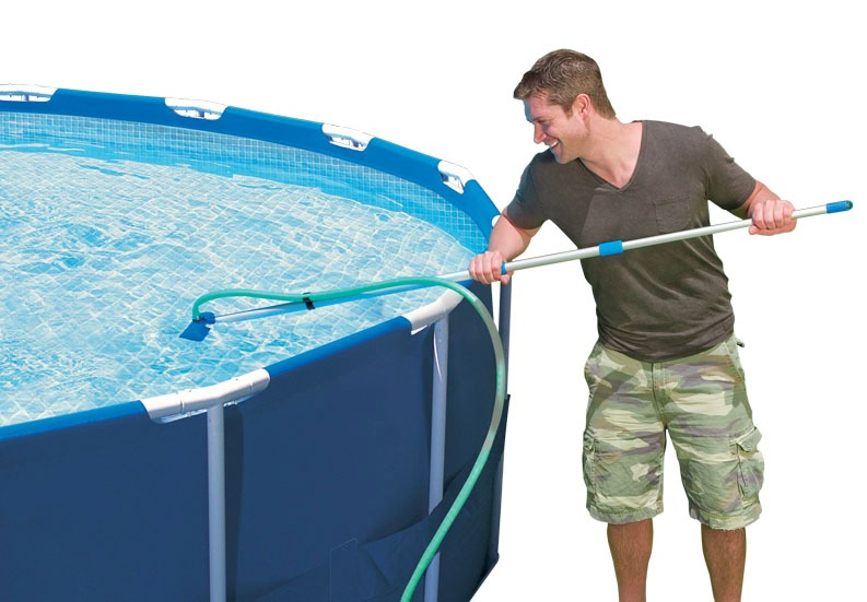 Kit de limpieza para piscinas intex 28002 con aspiradora for Kit de piscina