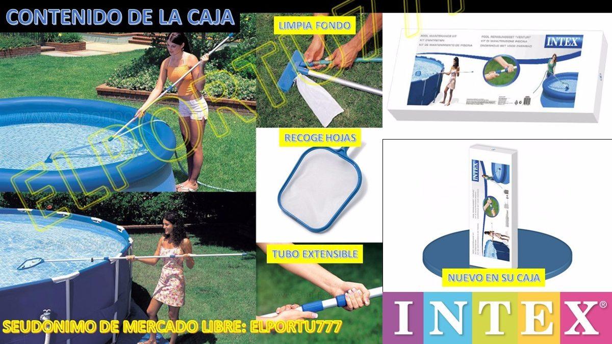 Kit de limpieza para piscinas marca intex bs for Kit limpieza piscina