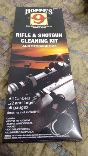 kit de limpieza rifle hoppes 9 caceria lubricante .22 270