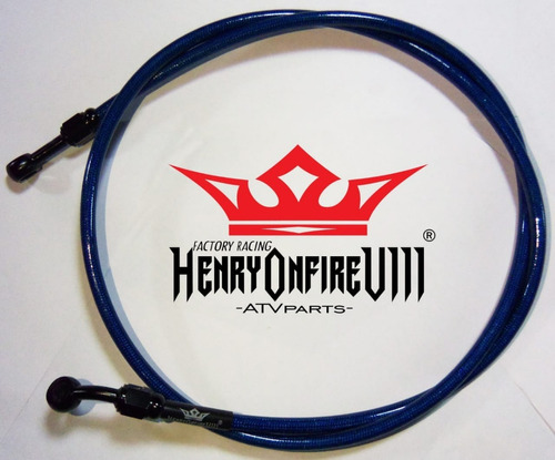 kit de linea de freno + clamp henryonfire suzuki ltr450 ltr
