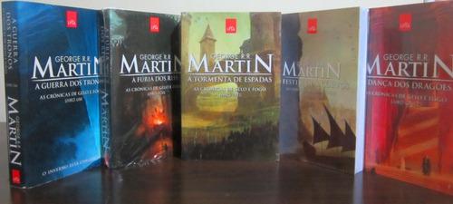 kit de livros  crônicas de gelo e fogo  - 5 livros