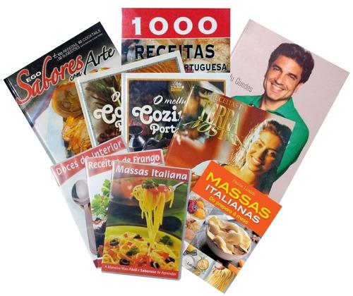 kit de livros de receitas mundiais doces e salgadas