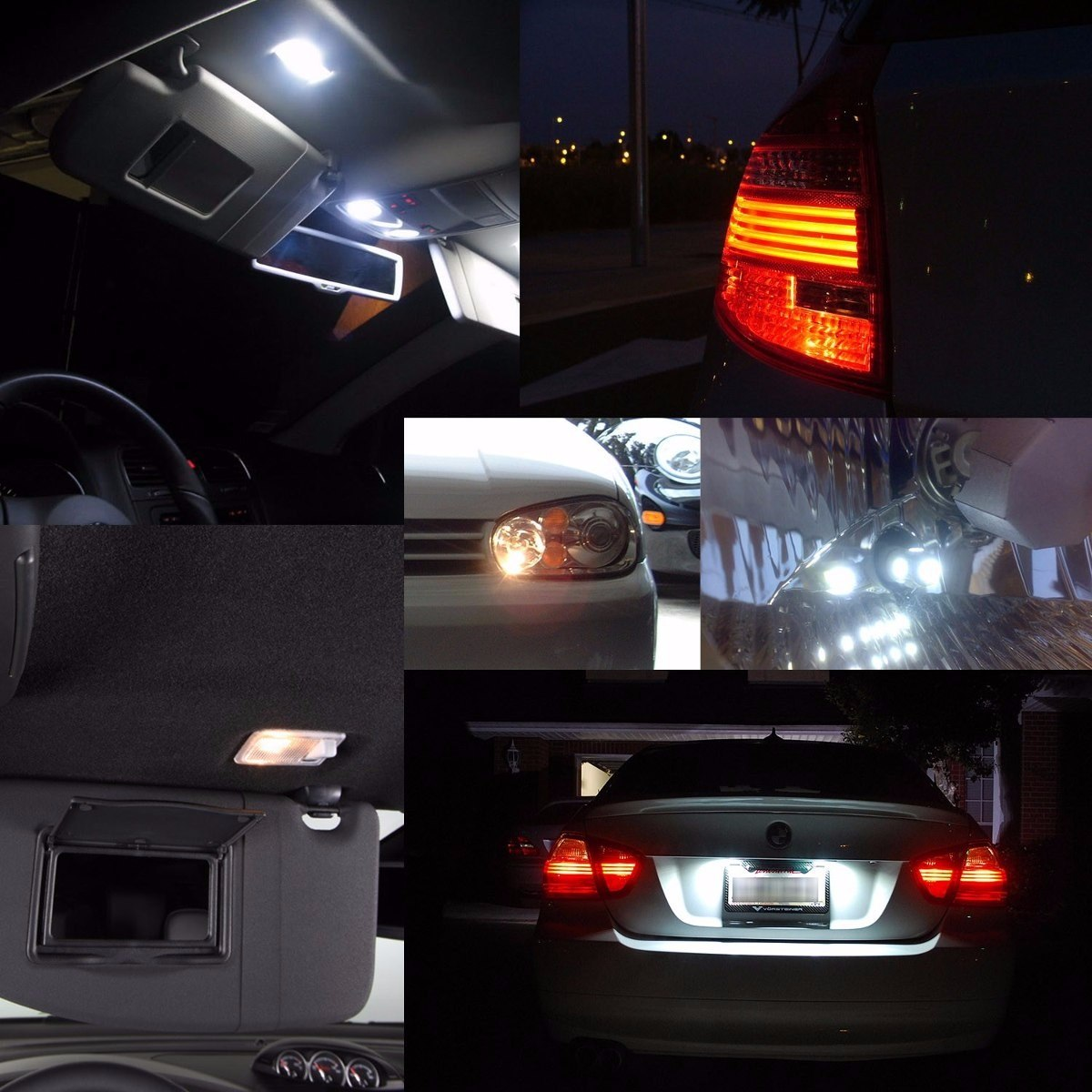 Kit de luces bora vw led interior cuartos portaplacas mk5 - Habitaciones con luces ...