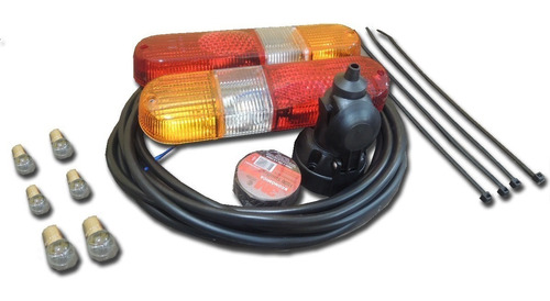 kit de luces completo para trailer (con luz marcha atrás)