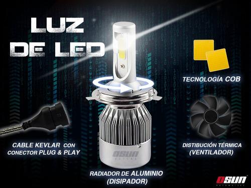 kit de luces led osun c6 tipo xenon faros auto h4 h13 9007