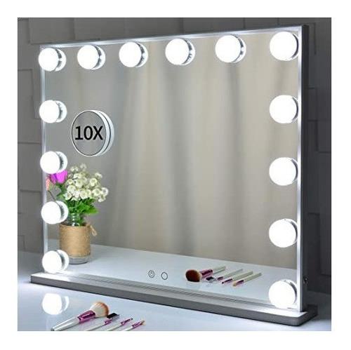 kit de luces led para espejo make up 10 focos de 3 tonos