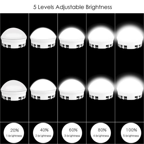 kit de luces para espejo de tocador led de tomshine estil...