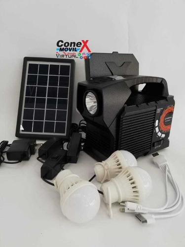kit de luces y carga de usb con dispositivospanel solar