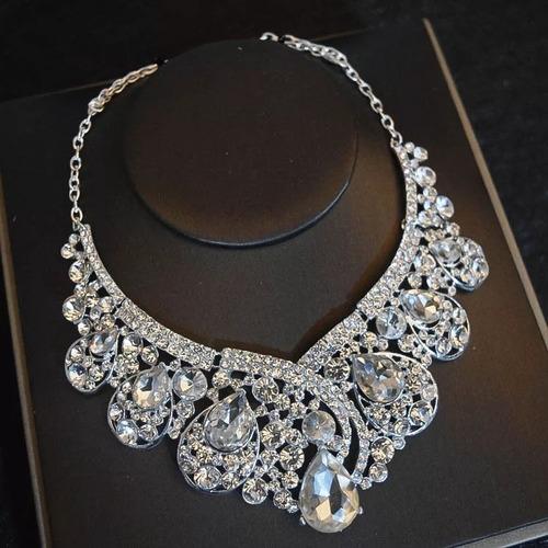 kit de luxo- colar e par de brincos- noiva- debutante
