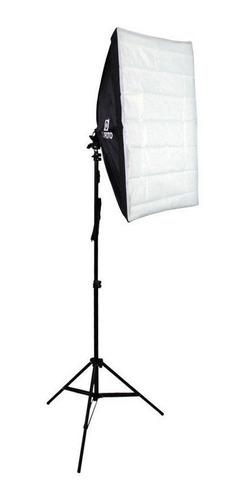 kit de luz continua para foto e video com sofbtox e tripé