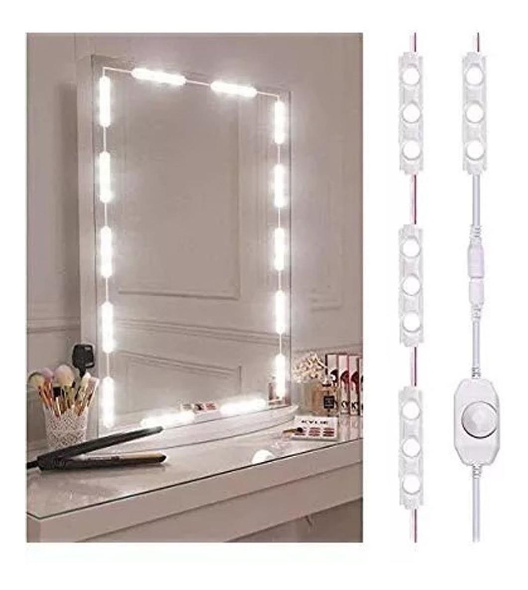 Kit De Luz Led Para Tu Espejo Maquillaje Fotografia Peinado Estilo  Hollywood Para Estudio Oficina Cuarto Baño Belleza