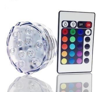 kit de luz sumergible led, diseño de flor sumergible, la cr