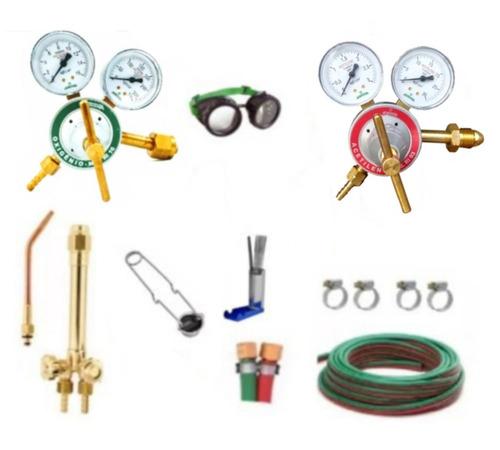 kit de manometro de oxigenio e acetileno maçarico de solda