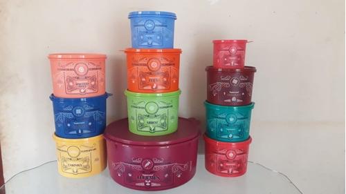 kit de mantimentos clássicos tupperware 10 peças