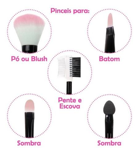 kit de maquiagem completo profissional vários itens luxo