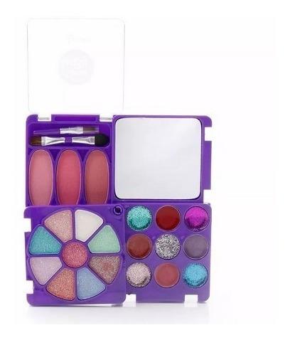 kit de maquiagem infantil princesas turma da lu lt616