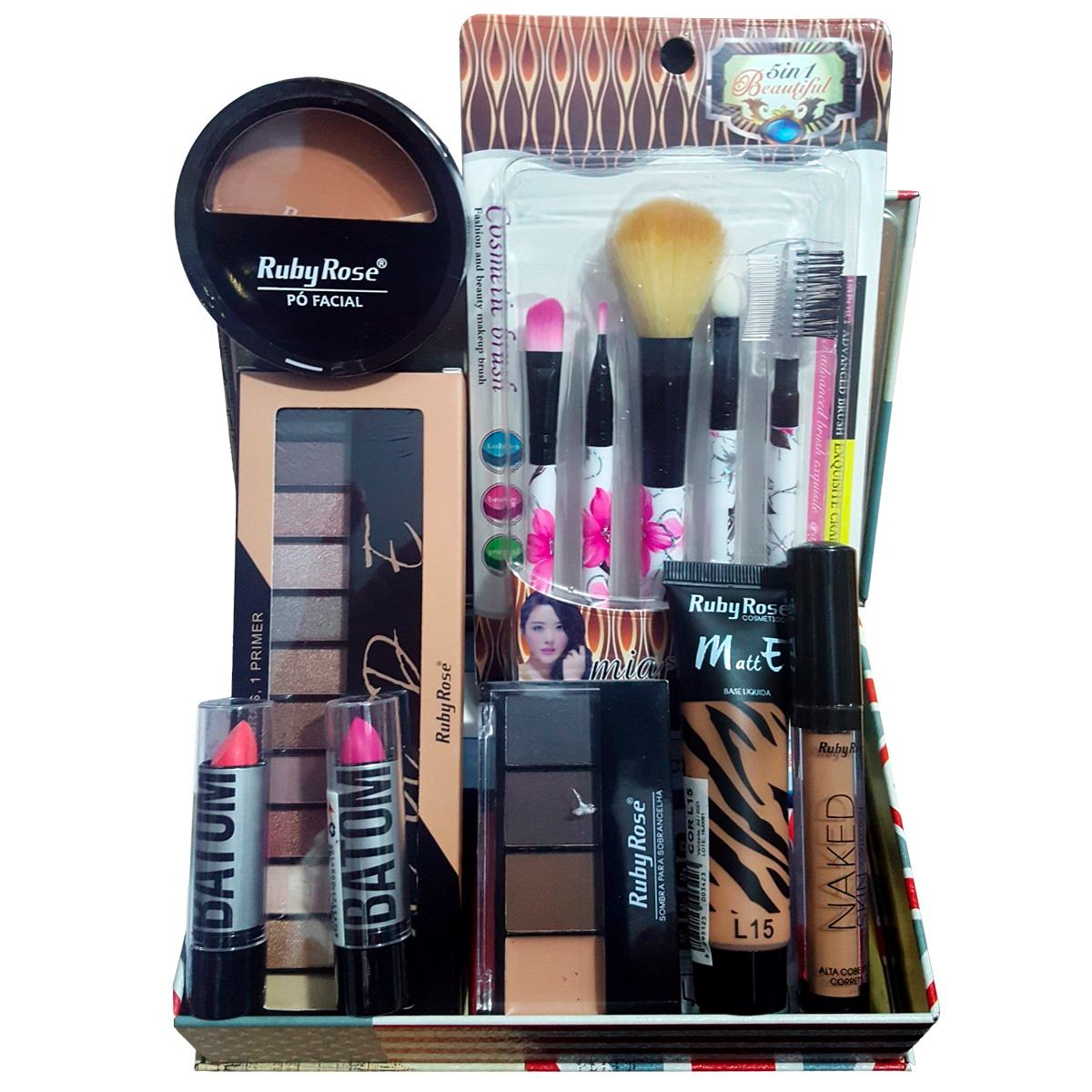 Necessaire Maleta Infantil Com Kit Maquiagem Completo MKI015 - Nova Diva