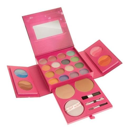 kit de maquillaje sombra y rubor y polvo