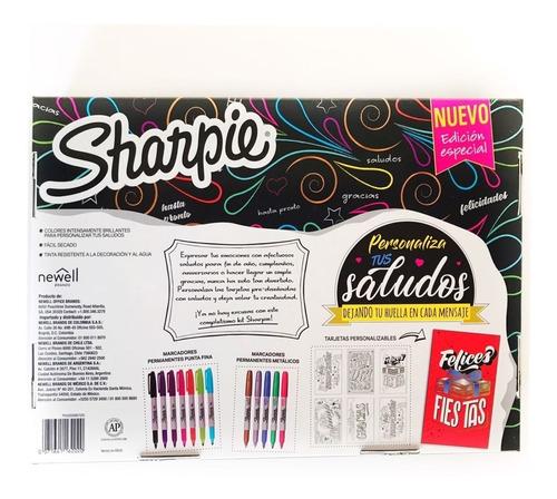 kit de marcadores sharpie saludos edicion especial x18 piez.