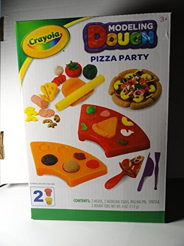 kit de masa de modelado pizza party