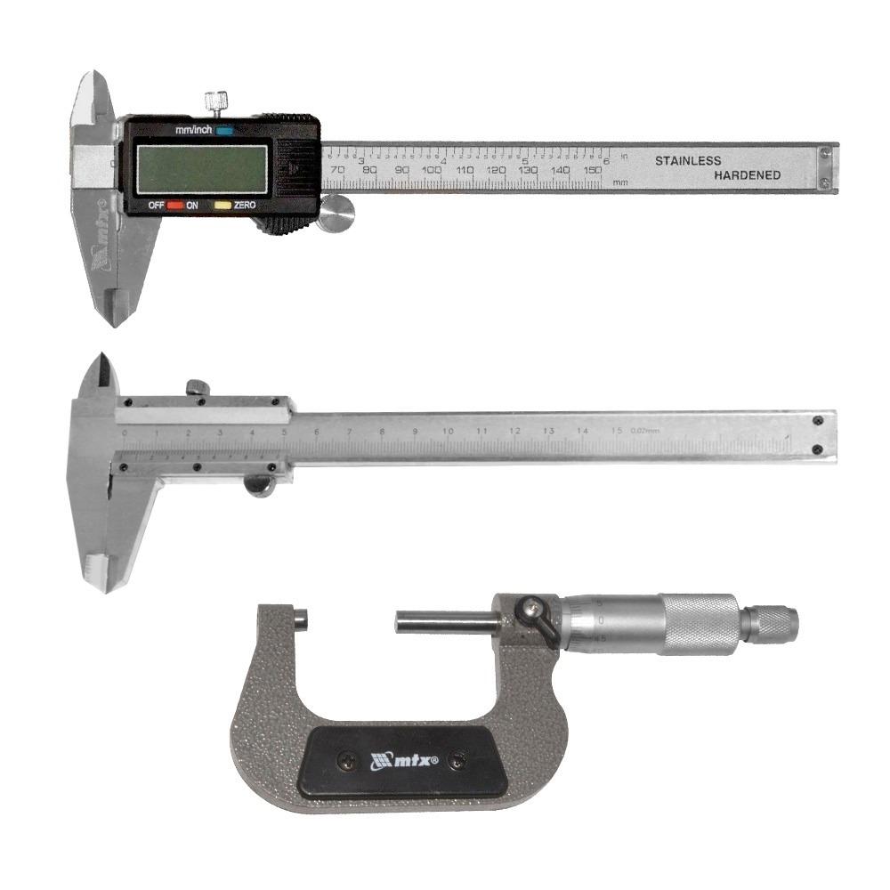 15872b2f5 Kit De Medição Paquímetro Digital + Analógico + Micrômetro - R  211 ...