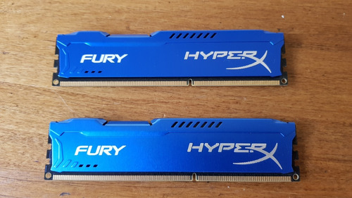 kit de memoria ddr3 1600 hyper x fury 8gb