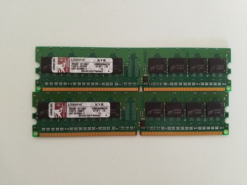 kit de memorias ram kingston ddr2 1gb 667mhz