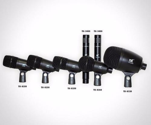 kit de microfone para bateria dsm7 tsi c/7 microfones