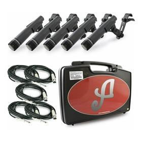 Kit De Microfones Arcano Renius-7d Dinâmico Cardióide