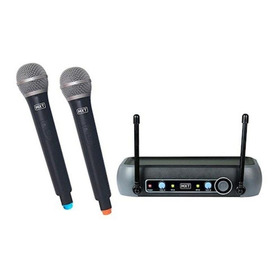 Kit De Microfones Mxt Uhf-202 Preto
