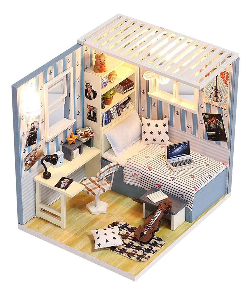 Kit De Miniaturas Diy Montaje Juguete De Modelo De Dollhouse