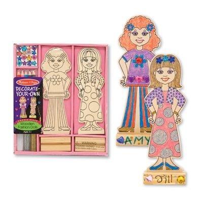 kit de moda muñecas arte de madera de melissa y doug decora
