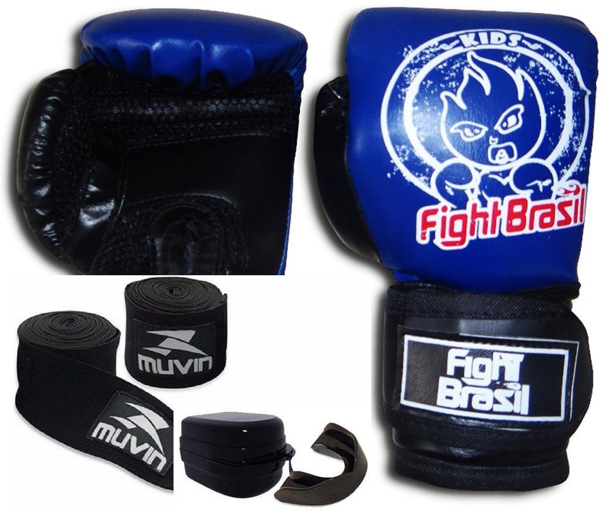 25c9e98c9 kit de muay thai boxe luva bandagem bucal infantil crianças. Carregando zoom .