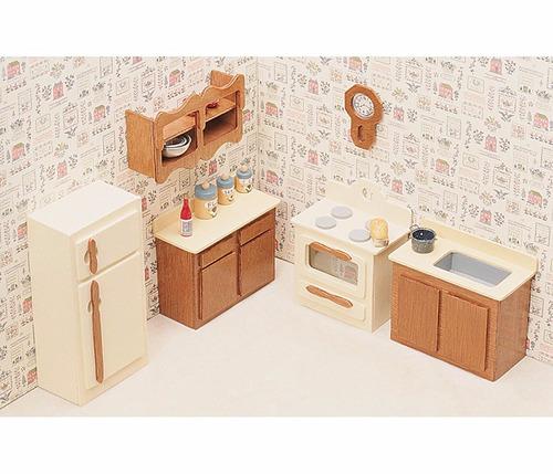 Kit de muebles de casa de mu ecas greenleaf para cocina for Muebles casa de munecas