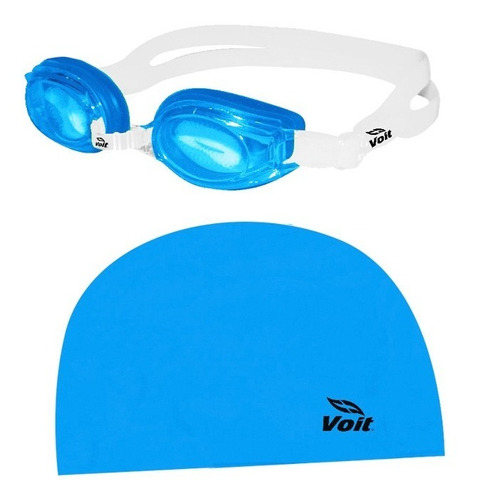 kit de natación jr niños unitalla 2 pzas azul 78943 voit