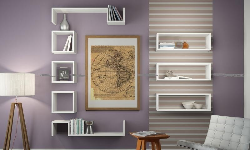 Kit de nichos decorativos 100 mdf r 499 00 em mercado for Kit sala de estar