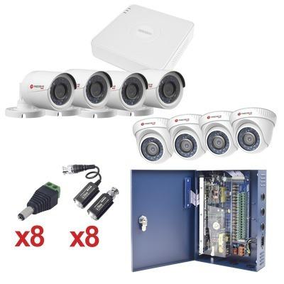 kit de ocho cámaras de vigilancia