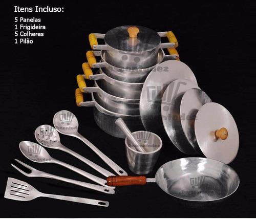 kit de panelas aluminio batido completo cozinha 15% melhor