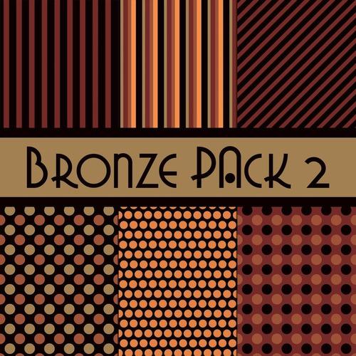 kit de papel digital bronce pack 1 y 2
