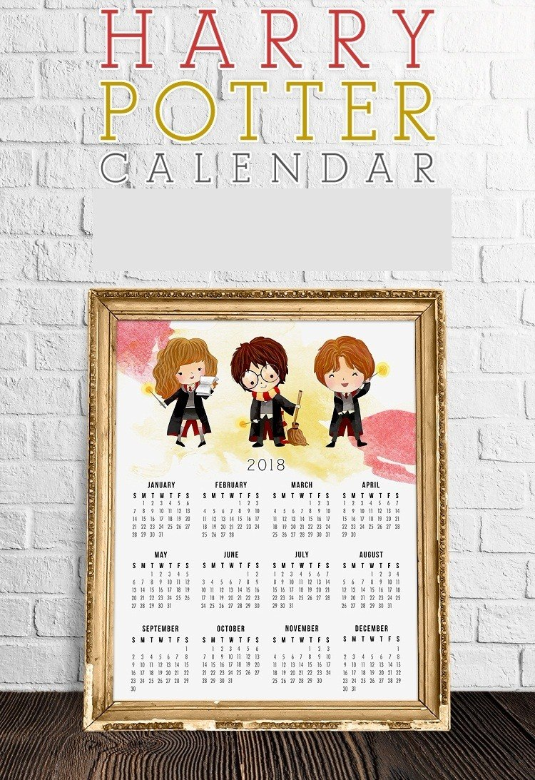 Calendario Harry Potter.Kit De Papel Digital Calendario Harry Potter 2018