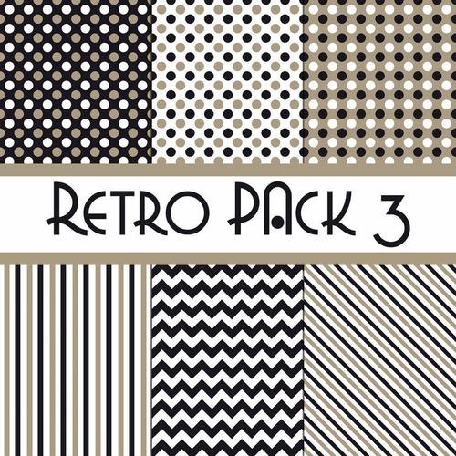 kit de papel digital retro pack 3 y 4
