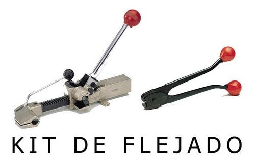 kit de para flejar, fleje de acero superficies irregulares.