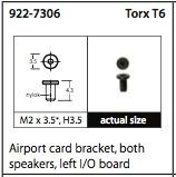 kit de parafusos left i/o e airport macbook pro 15.4